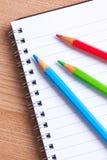 Crayons comme couleur de RVB Photographie stock libre de droits