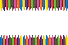 Crayons copy space Royalty Free Stock Photography