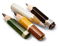 Crayons courts Images libres de droits
