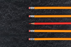 Crayons d'école Images stock