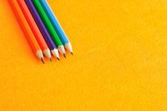 Crayons d'écriture Photo libre de droits