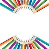 Crayons d'arc-en-ciel Photographie stock libre de droits