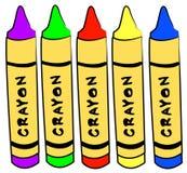 Crayons d'art et de métier Photos stock