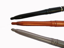 crayons d'eyeliner Images libres de droits