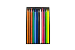 crayons d'isolement blancs Images stock
