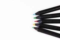 Crayons d'isolement de couleur Photos stock