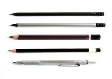 Crayons d'isolement sur le blanc image stock