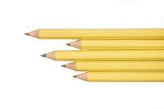 Crayons d'isolement sur le fond blanc Photographie stock libre de droits