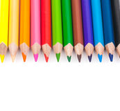 Crayons d'isolement sur milieux blancs Images libres de droits