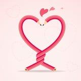Crayons dans l'amour Images libres de droits