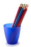Crayons dans la cuvette. Images libres de droits