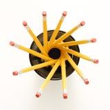 Crayons dans la forme spiralée. Photographie stock libre de droits