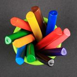 Crayons dans le choc Image stock