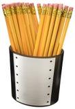 Crayons dans une cuvette Photo stock
