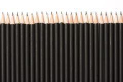 Crayons dans une ligne Photo libre de droits