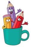 Crayons dans une tasse Illustration Libre de Droits