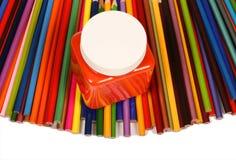 crayons de 1 couleur Photographie stock