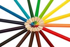 Crayons de bureau Photos libres de droits