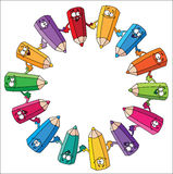Crayons de cercle Illustration Libre de Droits