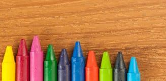 Crayons de cire photo stock