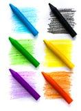 Crayons de cire Photos libres de droits