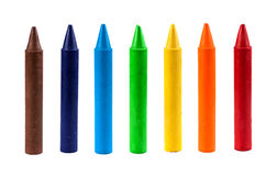 Crayons de cire Photographie stock