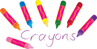 Crayons de cire illustration de vecteur