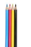 Crayons de CMYK Photo stock