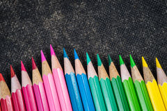 Crayons de coloration Photo libre de droits