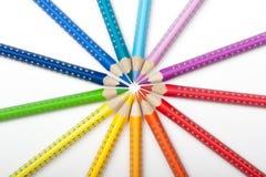 Crayons de couleur Images stock