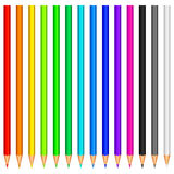 Crayons de couleur. Photo stock