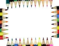 Crayons de couleur Photographie stock libre de droits