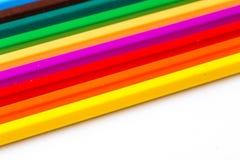 Crayons de couleur d'isolement Photo stock
