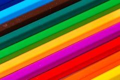 Crayons de couleur d'isolement Image libre de droits