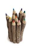 Crayons de couleur de 45 degrés Image libre de droits