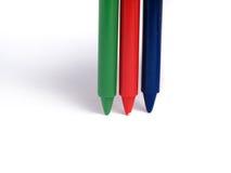 Crayons de couleur de RVB Photographie stock