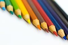Crayons de couleur dessus avec le fond Utilisation d'image pour l'idée, concept d'art photo stock