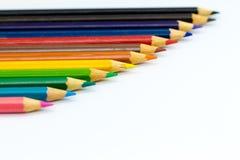 Crayons de couleur dessus avec le fond Utilisation d'image pour l'idée, concept d'art photographie stock libre de droits