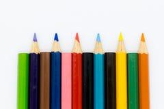 Crayons de couleur dessus avec le fond Utilisation d'image pour l'idée, concept d'art photos stock