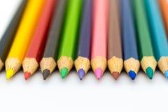 Crayons de couleur dessus avec le fond Utilisation d'image pour l'idée, concept d'art images stock