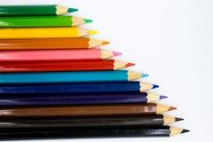 Crayons de couleur dessus avec le fond Utilisation d'image pour l'idée, concept d'art photos libres de droits