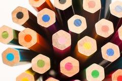 Crayons de couleur du ` s d'enfants pour le dessin Photos libres de droits