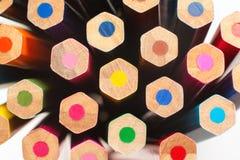 Crayons de couleur du ` s d'enfants pour le dessin Photos stock