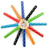 Crayons de couleur en cercle Photos libres de droits
