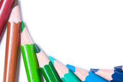 Crayons de couleur Fin vers le haut Photos libres de droits