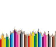 Crayons de couleur - image de vecteur Photos libres de droits