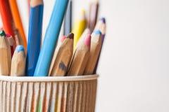 Crayons de couleur, plan rapproché Photographie stock libre de droits