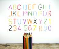 Crayons de couleur pour le fond Photos stock