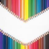 Crayons de couleur pour le fond Images libres de droits