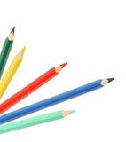 Crayons de couleur sur le blanc Image stock